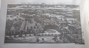 Drawing of aerial view of Warley Place