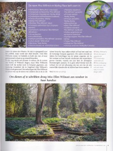 Dutch gardening magazine with photo of Warley Place