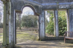 Ruined conservatory at Warley Place