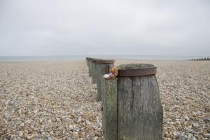 Reg's selfie on the beach at Eastbourne