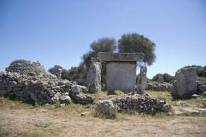 Ruined talaiot and taula at Talati de Dalt
