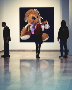 Reg on the wall in an art gallery