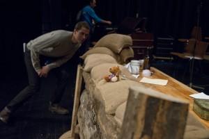 Reg directing the World War One play