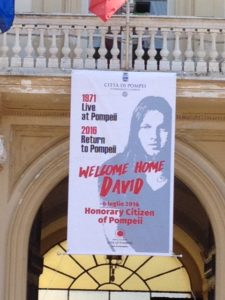 Welcome home David poster
