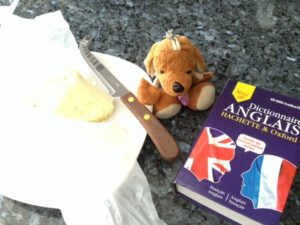 Reg, cheese and a French dictionary