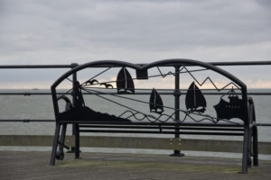 Bench on Southend Pier