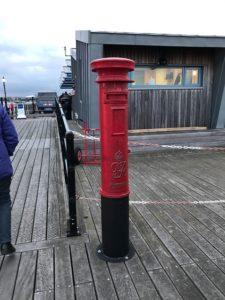 Post box on Southend Pier