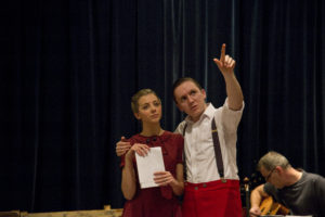 Sophie Farquhar as the narrator and Christopher Walthorne as Louis Vallin