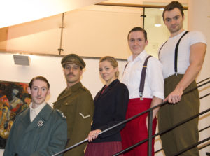 From L to R, James Le Lacheur, Andrew Lindfield, Sophie Farquhar, Christopher Walthorne and Zac Wancke
