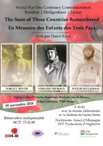The Sons of Three Countries Remembered flyer