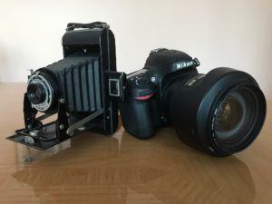 Looking into your future or back into your past - modern and vintage cameras
