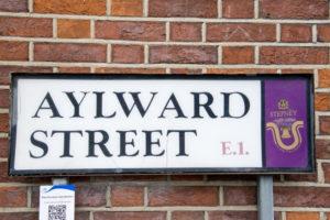 Aylward Street, Stepney Road Sign