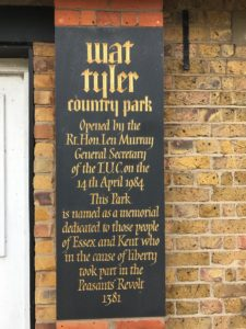 Wat Tyler Country Park plaque