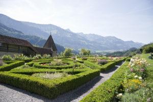 Gruyere Castle gardens