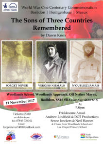 Poster for The Sons of Three Countries Remembered 2017