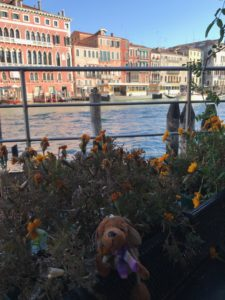 Reg in front of the Grand Canal