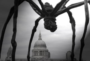 St. Paul's Cathedral being 'menaced' by a spider