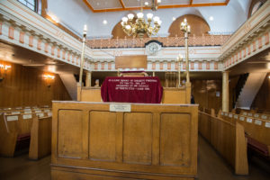 Inside Sandys Row Synagogue