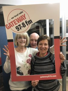 Jacqui, Peter and me in a Gateway 97.8fm frame!