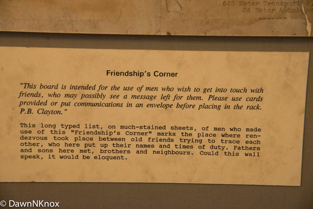 Friendship Corner notice