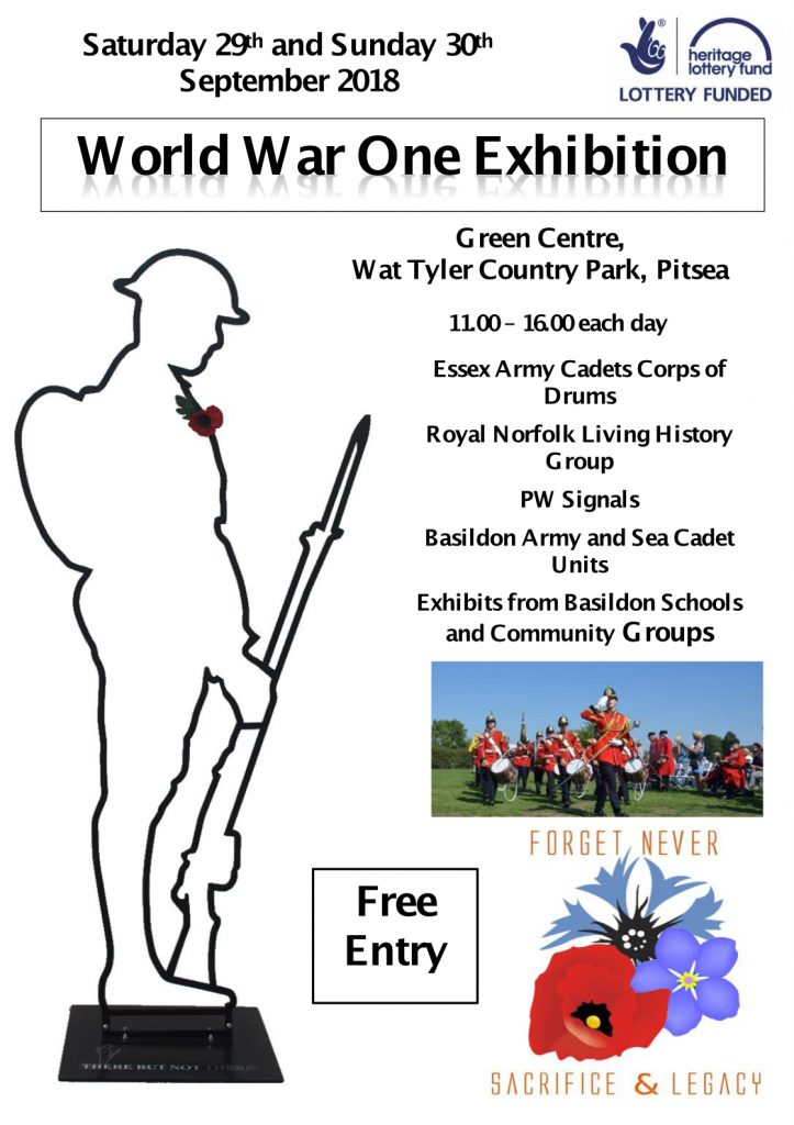 World War One Exhibition flyer