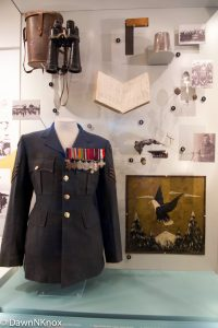 Personal items on display at RAF Biggin Hill Memorial Museum