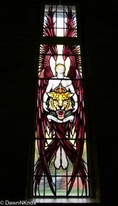 Stained glass window in St George's RAF Chapel of Remembrance, Biggin Hill