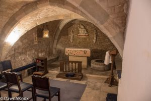 Crypt Chapel and well in St Olave's Church