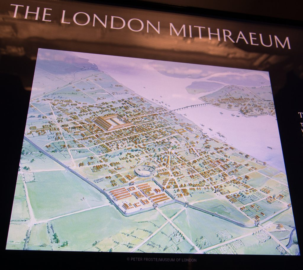 Map of Londinium Peter Froste Museum of London