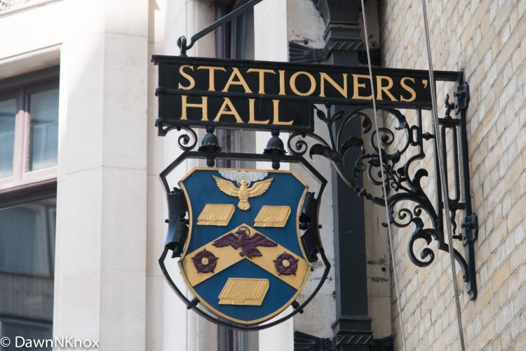 Stationers' Hall Sign