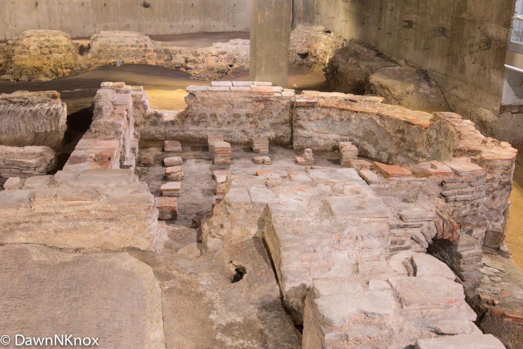 Caldarium of the Roman Baths at Billingsgate, London