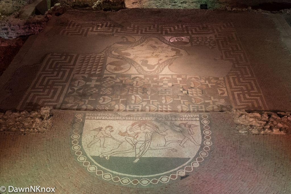 Mosaics in the Dining Area
