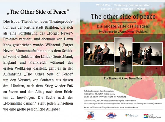 The Other Side of Peace flyer in German