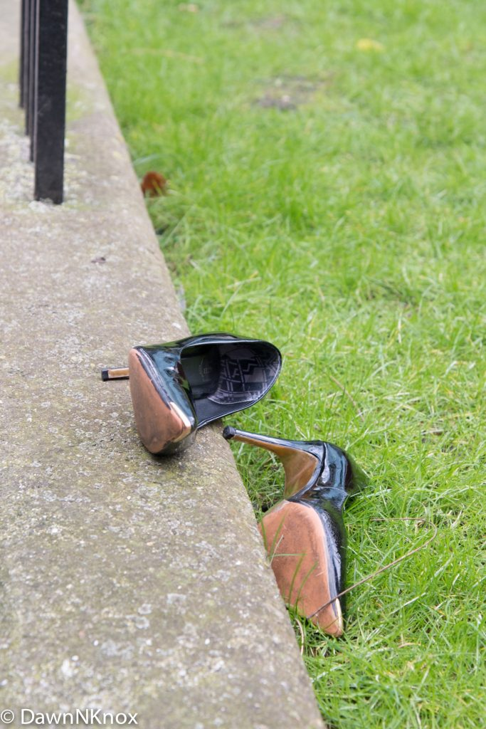pair of discarded shoes