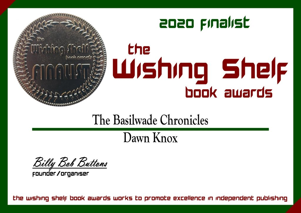 Wishing Shelf Book Awards Finalist Certificate